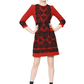 DOLCE&GABBANA - FW2014 LACE ON STRETCH WOOL CREPE DRESS