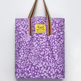 bluespot - 【KRAVITZ】Leopard Pattern Eco Bag(PURPLE)