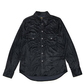 NEEDLES - Cowboy Shirt-Synthetic Suede-Black