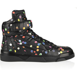GIVENCHY - Tyson high-top sneakers in confetti-print leather