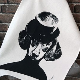 Lisa Bengtsson - Lisa Bengtsson Dog Tea Towel - Top Hat