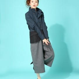 Cashmere Mix Wool Stole (Navy)