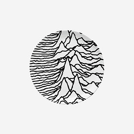 GOODHOOD, JOY DIVISION, Peter Saville - 'UNKNOWN PLEASURES' PLATE
