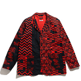 ENGINEERED GARMENTS - Loiter Jacket-Noma t.d. Print-Red×Black
