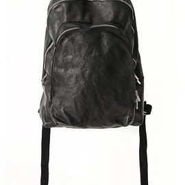 GUIDI - Soft Horse Leather Back Pack - DBP06 - BLACK