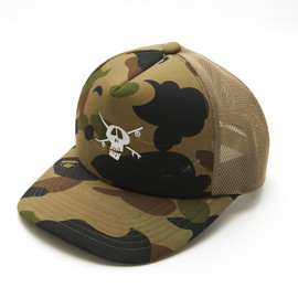 A BATING APE_, STUSSY - Camoflage Tracker Cap
