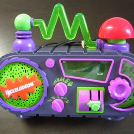 Nickelodeon - Time Blaster AM/FM Alarm Clock Radio