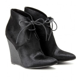 BURBERRY PRORSUM - BENTONS HAIRCALF WEDGE ANKLE BOOTS
