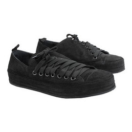Ann Demeulemeester - Suede lace up trainers