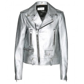 SAINT LAURENT - METALLIC LEATHER BIKER JACKET