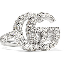 GUCCI - 18-karat white gold diamond ring
