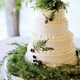 wedding cake - fern buttercream wedding cake