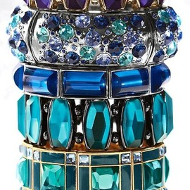 bracelet , Jeweled  blue