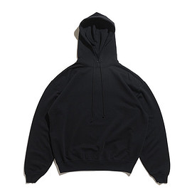 AURALEE - Super Soft Sweat Big P/O Parka-Black
