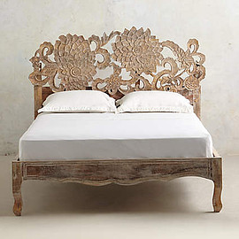 Anthropologie - Handcarved Lotus Bed