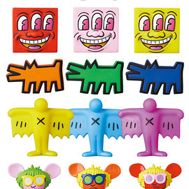 MEDICOM TOY - MINI VCD KEITH HARING #2 Barking Dog/Flying Devil/Radiant Baby/ Andy Mouse/Three Eyed Smiling Face