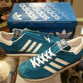 "adidas - 「<deadstock>'94 adidas COUNTRY SUEDE bluegreen/white""made in JAPAN"" W/BOX size:25cm 12800yen」完売"