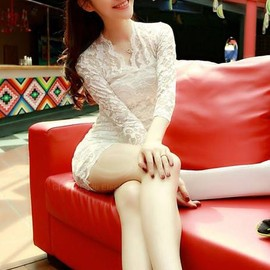 Free Shipping Sexy V-Neck Slim Fit Long Sleeved Lace Dress