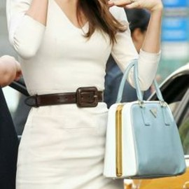 Gorgeous white dress with handbag