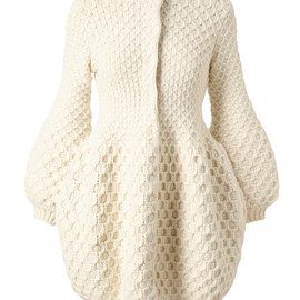 Alexander McQueen - HONEYCOMB KNITTED WOOL CARDIGAN