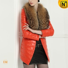 cwmalls - Womens Winter Down Filled Coat with Fur Collar CW613582