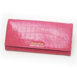 miu miu - long wallet GERANIO