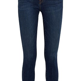 J Brand - 811 frayed mid-rise skinny jeans