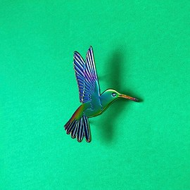 c project - NATURAL TREASURE - HUMMINGBIRD PIN