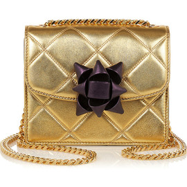MARC JACOBS - Trouble mini metallic quilted leather shoulder bag