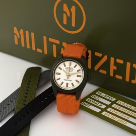 ROLEX - MILGAUSS DOUBLE ORANGE TACTICAL RUGGED CUSTOMIZED BY MILITARIZED DLC Rolex