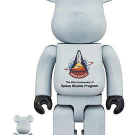 MEDICOM TOY - SPACE SHUTTLE BE@RBRICK 100% & 400%