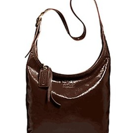 Coach - Coach Bleecker Patent Leather Sophie Crossbody Messenger Bag Handbag 12387 Mahogany Brown