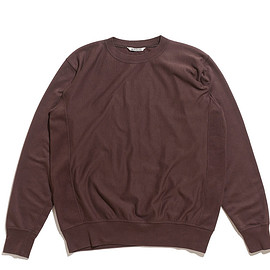 AURALEE - Super High Gauge Sweat Big P/O-Dark Brown