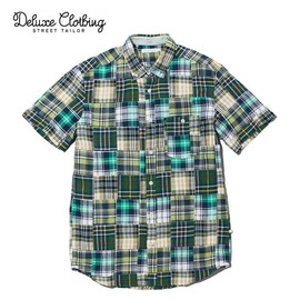 Deluxe Clothing - Chapman / Short Sleeve Patchwork Shirt
