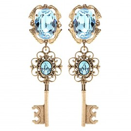 DOLCE&GABBANA - Embellished clip-on earrings