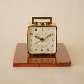 dep - dep/small alarm clock/ivory/france 1910s-20s