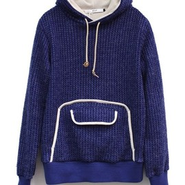 .efiLevol - CUT KNIT PARKA-BLUE