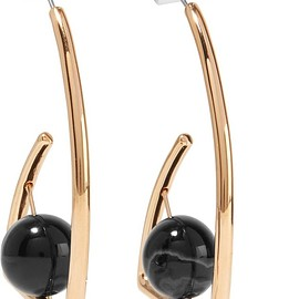 URiBE - Beatrix gold-plated agate earrings