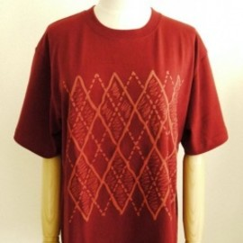 OMIYAGE by POURTON DE MOI - アーガイルTEE   BURGUNDY