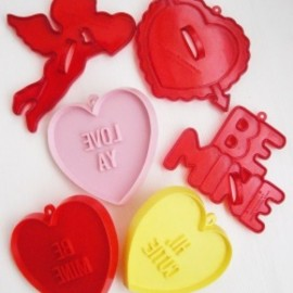 Hallmark・Amscan - Vintage Amscan & Hallmark【ANGEL with CONVERSATION HEARTS】クッキー型 6個セット