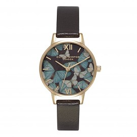 Olivia Burton - WOODLAND MULTI BUTTERFLY DARK CHOCOLATE AND GOLD