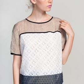 Corey Lynn Calter - Corey Lynn Calter Blocked Shift Top