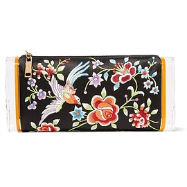 Edie Parker - Soft Lara embroidered satin and acrylic box clutch