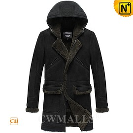 CWMALLS - Custom Merino Sheepskin Coat with Hood CW818567 | CWMALLS.COM