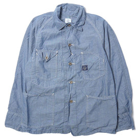 POST OVERALLS - Engineers Jacket Southern Chambray Indigo