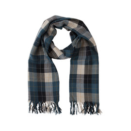 MARGARET HOWELL - TWILL CHECK SCARF