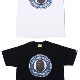 A BATHING APE - STENCIL BUSY WORKS TEE