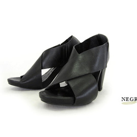RIZZO - RIZZO Leather Sandal #77000 Negro