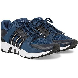 Adidas Originals - + White Mountaineering EQT Running Support '93 Suede-Trimmed Primeknit Sneakers