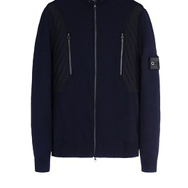Stone Island - Sweater 501A6 TACTICAL TRACK JACKET _ STRETCH WOOL WITH INTARSIA STONE ISLAND SHADOW PROJECT - 0